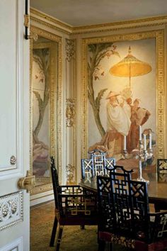 Chinoiserie panels - Dining Room