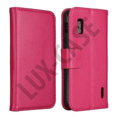 FlipStand Google Nexus 4 Leather Case (Stark Rosa)