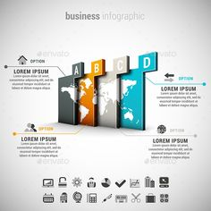 Vector illustration of business infographic made of world map. 22 icons inside file. ZIP includes free font link, EPS10, AI, PSD a