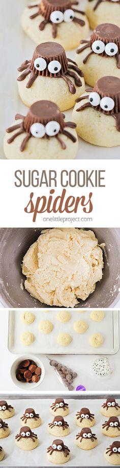 Halloween Peanut Butter Spider Cookies | Recipe | Spider cookies ...