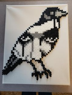 The Crow Perler Beaded Canvas - The Crow Perler Beaded Canvas - . - The Crow Perler Beaded Canvas – The Crow Perler Beaded Canvas – - Perler Bead Designs, Perler Bead Templates, Hama Beads Design, Diy Perler Beads, Perler Bead Art, Bead Embroidery Patterns, Pearler Bead Patterns, Beading Patterns Free, Perler Patterns