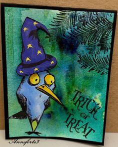 DDABC7H, Halloween Blue Bird by annsforte3 - Cards and Paper Crafts at…
