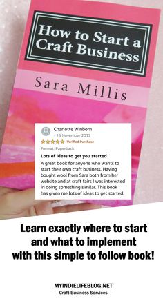 HOW TO START A CRAFT BUSINESS BOOK  Having run my own successful craft business for 11 years I've written this book for all the first timers, the dreamers and the creatives who really want to get paid to do something they love.  CLICK TO BUY!  #sellingonline #craftbusiness #smallbusiness #etsytips #etsyseller #handmadebusinessideas #handmade #craftdiy #craft #diy #crafts