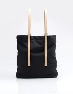 Canvas bags with leather straps