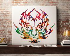 Tiger Watercolor Painting Print Fine Art by Antsartworkoffice