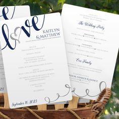 Printable wedding program template rustic wedding fan program calligraphy wedding program fan more solutioingenieria Choice Image