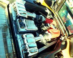 """""""Engine"""" by Dietmar Scherf #motoring #cars #Ferrari #speed #garage #rush"""
