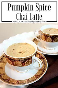 Healthy Pumpkin Spice CHAI Latte #PSCL - recipe on www.nutritionbynazima.com