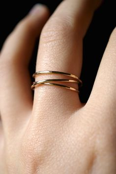 14K Gold Fill Wraparound ring, gold fill wrap ring, wrapped gold ring, gold stack ring, gold wrap around ring, gold infinity ring