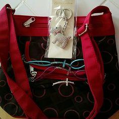 Bundle of Accessories Purse, Scottie dog key chain, 3 cross bracelet's Accessories