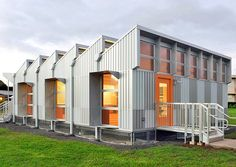 Energy-positive portable classroom produces four times more energy than it needs.