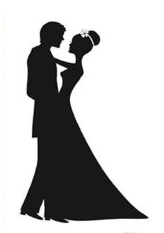 Wedding+Couple+Silhouette | Looking for this design | Weddingbee DIY Projects