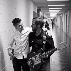 Alex Turner of The Arctic Monkeys and Dan Auerbach of The Black Keys