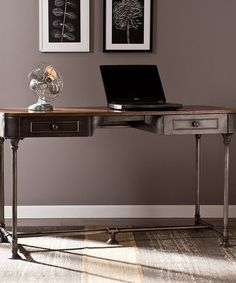 Look what I found on #zulily! Tobacco Industrial Two-Drawer Desk #zulilyfinds