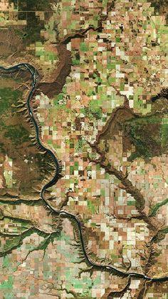 Satellite Image-Themed iPhone