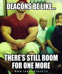 Deacons be like... Visit us at www.thehaystack.tv #sda #thehaystacktv #adventist #humor #lol #church #deacons #tightfit