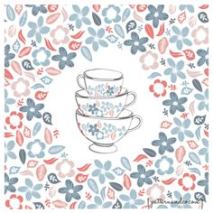 A Bunch of Flowers is just my Cup of Tea by Michelle Drew, via Behance
