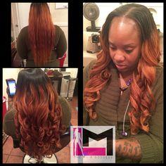 L.M. The Beauty Goddess SEWIN!!!! L.M. The Hair Goddess custom color 22,24,24 Bundles