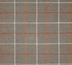 Pennington II Plaid Taupe/Orange Fabric by the by fabulessfabrics