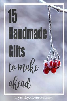 15 Homemade Christmas Gifts to make ahead — Day to Day Adventures