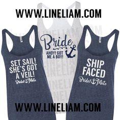 BRIDAL SALE bridesmaid tanks, nautical bridesmaid tanks, bridesmate shirts, nautical bridesmaid shirts, bachelorette shirts, bride shirts
