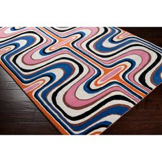 Tepper Jackson Hand-tufted Dreamscape Pink Geometric Rug Rug (2' x 3') | Overstock.com Shopping - The Best Deals on Accent Rugs