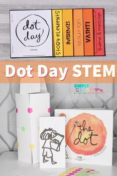 dot day art projects Celebrate Dot Day in your classroom with these highly engaging STEM activities and challenges. Integrate literature and art with engaging, captivating and irres Spelling Activities, Reading Activities, Science Activities, Spelling Ideas, Interactive Activities, Interactive Notebooks, The Dot Book, Dot Day, Common Core Reading