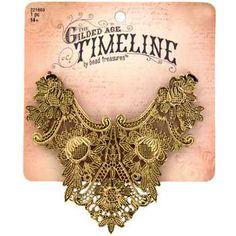 Antique Gold Lace Statement Pendant
