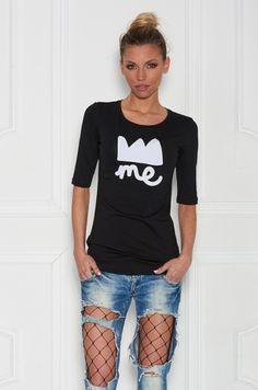 Tričko s krátkym rukávom z kolekcie For ME. V prednej časti trička je potlač
