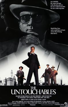 This movie was Fantastic. The Untouchables (1987) Kevin #costner Robert #deniro Sean #connery #gangster #capone #mafia
