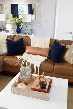 Navy: The New Fall Trend in home decor. Available at HomeGoods. Sponsored Pin.