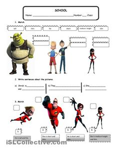 Worksheet Physical Appearance