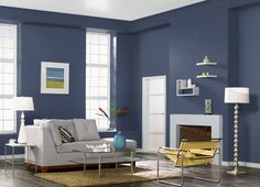 This is the project I created on Behr.com. I used these colors: DECEMBER EVE(580F-7),TWILIGHT GRAY(750E-2),ATLANTIC BLUE(600F-6),ASH WHITE(W-F-520),