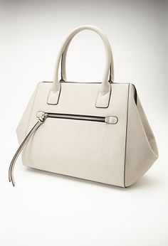 Faux Leather Satchel Forever21 1000134679 Oversized Handbags Work Bags