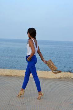 Electric blue pants