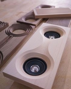 May 2019 - Design & made by Sunghyun An. See more ideas about Design, Furniture and Cnc projects. Wooden Speakers, Diy Speakers, Stereo Speakers, Audio Design, Sound Design, Design Design, Wood Projects, Woodworking Projects, Woodworking Plans