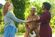 From left, Emma Stone, and Oscar nominees Octavia Spencer and Viola Davis star in The Help. Hollywood has been reaching deep into Alabama's past, present and future this week . Emma Stone, Viola Davis, Vin Diesel, Great Films, Good Movies, Amazing Movies, Watch Movies, It's Amazing, Love Movie