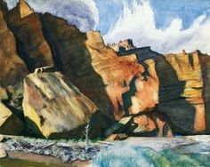 Edward Hopper (1882 — 1967, USA) Shoshone Cliffs, Wyoming. 1941 watercolor and pencil on paper. 21 3/8 x 26 3/8 in. (54.3 x 67 cm.)