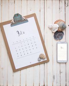 Calendario descargable julio   lámina de regalo