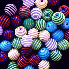 #lampwork #striped beads#pärlmakeriet