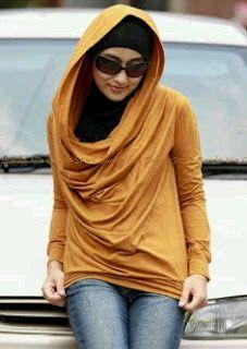 Cute hoodie hijab shirt
