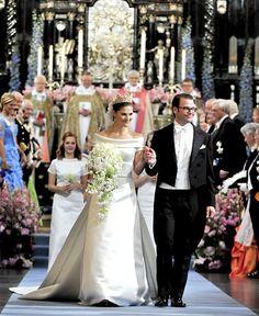 Royale Hochzeitskleider: 19. Juni 2010: Prinzessin Victoria von Schweden und Prinz Daniel
