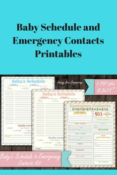 Printable Schedules to help give daycare, nannies or babysitters all the information they need about your baby, including their schedule and emergency contacts #affiliate #baby