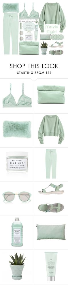 """""""Bring the Popcorn: Movie Night"""" by deserii ❤ liked on Polyvore featuring Monki, Marie Turnor, Herbivore, Juvia, River Island, Camper, Williams-Sonoma, LINUM, Chive and Drybar"""