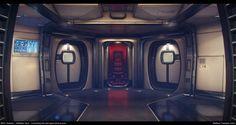 ArtStation - Star Citizen...The Starfarer: Habitation deck connecting hub, Matthew Trevelyan Johns