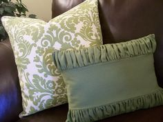 fun pillow ideas + pillow forms at Ikea for $3. Who knew?