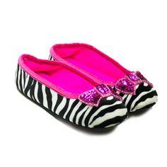 Velvet Ballet Slippers Zebra  by Betsey Johnson