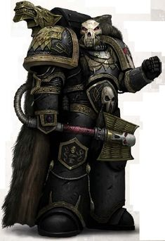 Badass Wolf Priest from the 40k universe