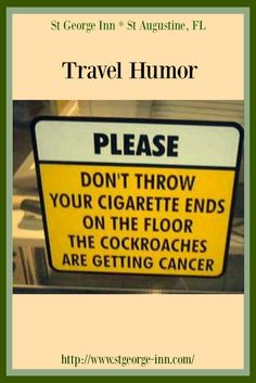 Have a good laugh but a place to stay on vacation is no laughing matter. Therefore, when you travel to St Augustine, check in with us by clicking on pin...