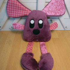Doudou souris - violet rose